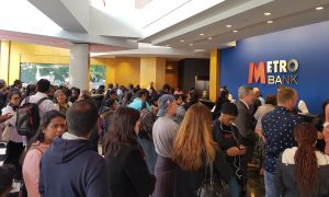Metro Bank Harrow Queue on Saturday morning